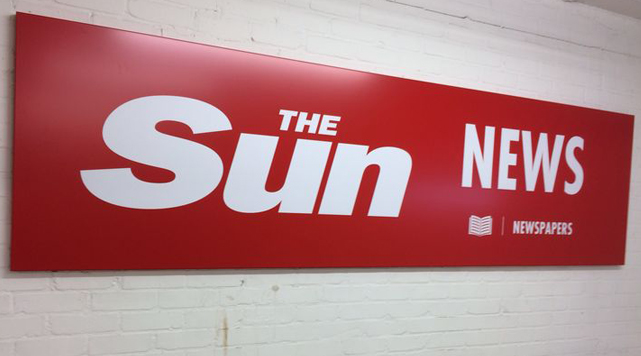 News UK Shop signage