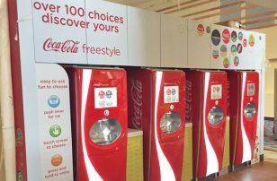 Coca-Cola Freestyle branding at Vue cinema